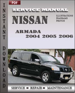 nissan armada 2004 2005 2006 service repair manual instant. Black Bedroom Furniture Sets. Home Design Ideas