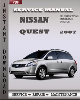 nissan quest 2007 service repair manual instant download. Black Bedroom Furniture Sets. Home Design Ideas