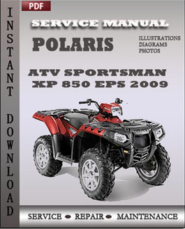 polaris 2009 sportsman touring xp 850 repair manual