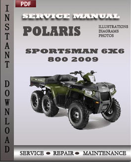 polaris sportsman 6 6 800 2009 workshop factory service. Black Bedroom Furniture Sets. Home Design Ideas