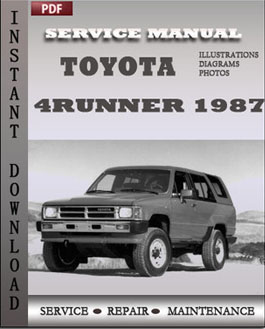 Toyota 4Runner 1987 manual