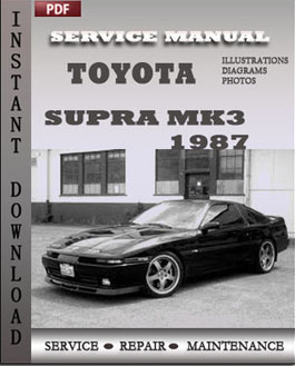 Toyota Supra Service Repair Manual Global Manuals