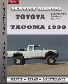 Repair Manual book Toyota Tacoma 1998 contains maintenance schedule