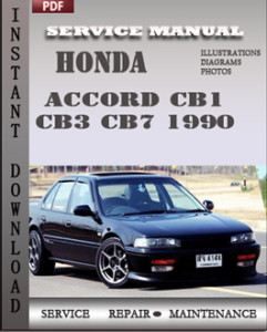 honda accord cb1 cb3 cb7 1990 service manual download repair service manual pdf. Black Bedroom Furniture Sets. Home Design Ideas