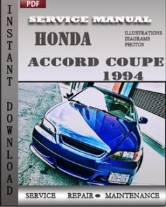 honda accord coupe 1994 service manual download repair service manual pdf. Black Bedroom Furniture Sets. Home Design Ideas