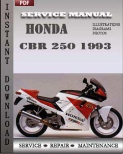 honda cbr 250 1993 service manual download repair. Black Bedroom Furniture Sets. Home Design Ideas