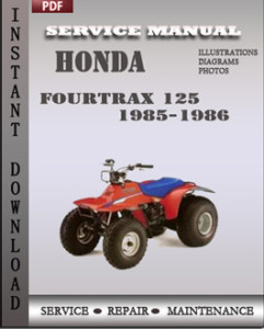Honda Fourtrax 125 1985-1986 global