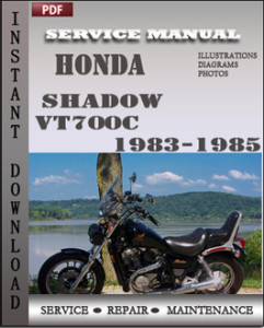 Honda Shadow VT700C 1983-1985 global