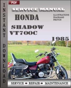 Honda Shadow VT700C 1985 Service Manual Download Repair