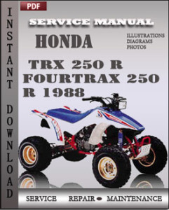 Honda TRX 250 R Fourtrax 250 R 1988 global