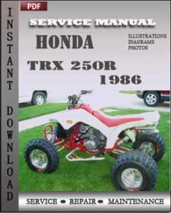 Honda TRX 250R 1986 global