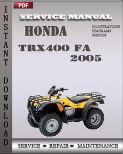 Honda TRX400 FA 2005 global