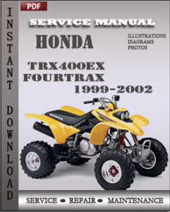 honda trx400ex fourtrax 1999 2002 service manual download