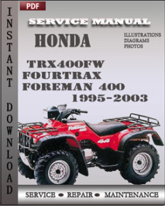 Honda Trx400fw Fourtrax Foreman 400 1995 2003 Service Manual Download on honda engine wiring diagram
