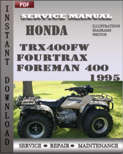 Trx400fw Fourtrax Foreman 400 Service Repair Manual | User Guide PDF