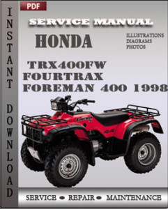 Honda TRX400FW Fourtrax Foreman 400 1998 global