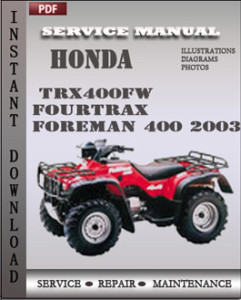 Honda TRX400FW Fourtrax Foreman 400 2003 global