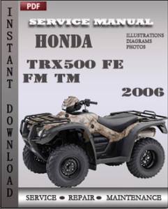 Honda TRX500 FE FM TM 2006 global
