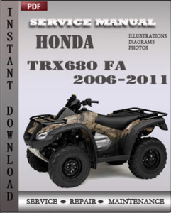 Honda TRX680 FA 2006-2011 global