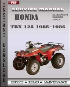 Honda Trx 125 1985-1986 global