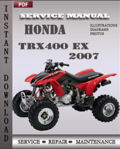 Honda Trx400 EX 2007 global
