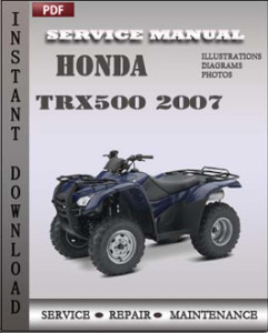 Honda Trx500 2007 global