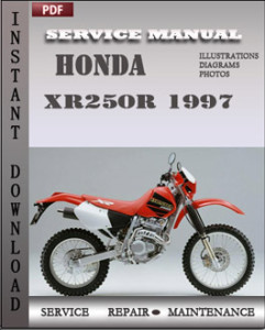 honda xr250r 1997 service manual download repair service