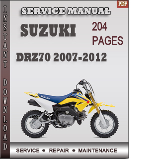 Suzuki DRZ70 2007-2012 service manual