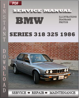 BMW 3 Series 318 325 1986 manual