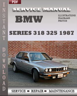 BMW 3 Series 318 325 1987 manual