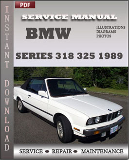 BMW 3 Series 318 325 1989 manual
