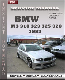 BMW 3 Series M3 318 323 325 328 1993 manual