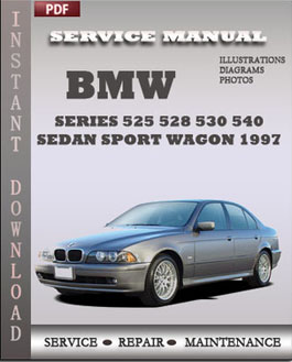 BMW 5 Series 525 528 530 540 Sedan Sport Wagon 1997 manual