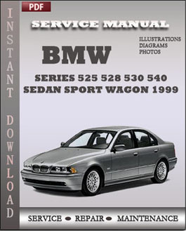 BMW 5 Series 525 528 530 540 Sedan Sport Wagon 1999 manual