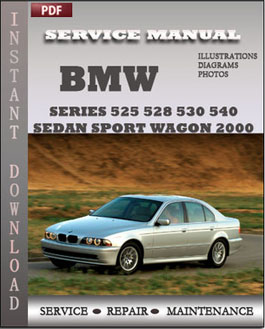 BMW 5 Series 525 528 530 540 Sedan Sport Wagon 2000 manual