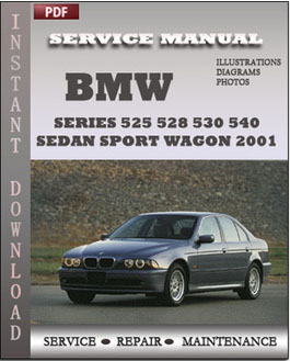 BMW 5 Series 525 528 530 540 Sedan Sport Wagon 2001 manual