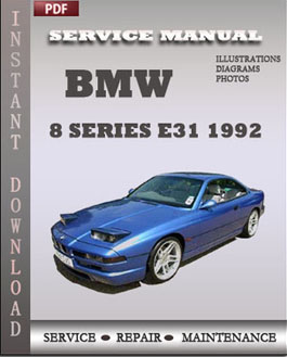 BMW 8 Series e31 1992 manual