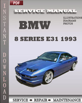 BMW 8 Series e31 1993 manual