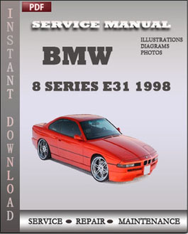 BMW 8 Series e31 1998 manual