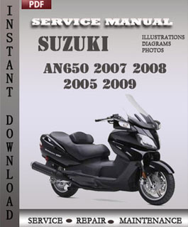 Suzuki AN650 2007 2008 2005 2009 manual