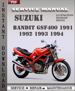 Suzuki Bandit GSF400 1991 1992 1993 1994 manual