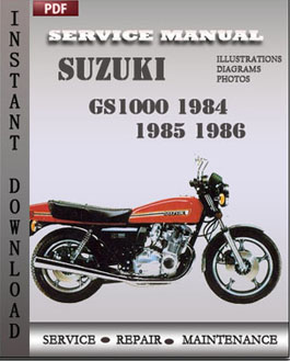 Suzuki GS1000 1984 1985 1986 manual