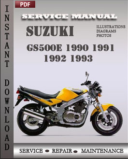 Suzuki GS500E 1990 1991 1992 1993 manual