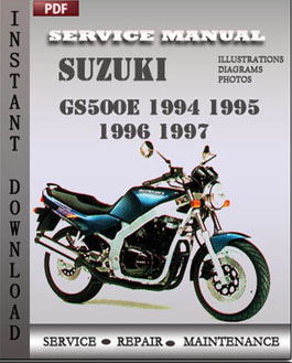 Suzuki GS500E 1994 1995 1996 1997 manual