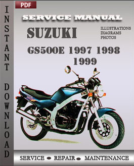 Suzuki GS500E 1997 1998 1999 manual