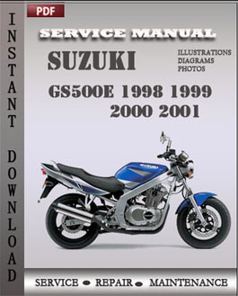 Suzuki GS500E 1998 1999 2000 2001 manual