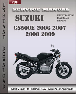 Suzuki GS500E 2006 2007 2008 2009 manual