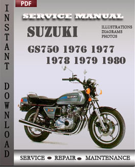 Suzuki GS750 1976 1977 1978 1979 1980 manual