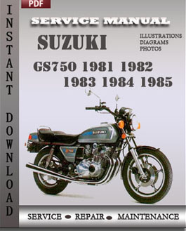Suzuki GS750 1981 1982 1983 1984 1985 manual