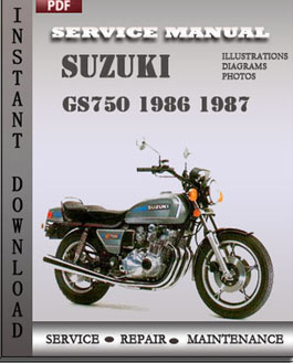 Suzuki GS750 1986 1987 manual